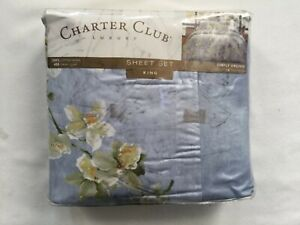 CHARTER CLUB LUXURY SIMPLY ORCHID KING SHEET SET