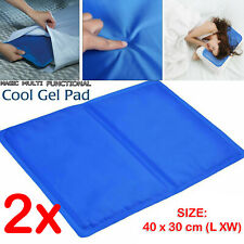 2x Cooling Gel Pad Pillow Natural Chilled Comfort Sleeping Body Aid Cool Bed Mat
