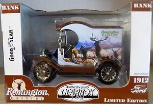 1912 FORD model T  REMINGTON -NEUF limited édition GEARBOX 1:24 tirelire