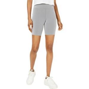 Material Girl Womens Pinstripe Casual Pull On Bike Shorts Juniors BHFO 6351