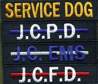 Custom Name Tapes w Hook Backing Webbed Desert DCU Woodland BDU CAP