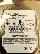 "*New* Toshiba (MK4032GAS) 40GB, 4200RPM, 2.5"" IDE Internal Hard Drive"