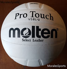 Molten Pro Touch V58LHigh School Approved Premium Leather Volleyball - US Seller