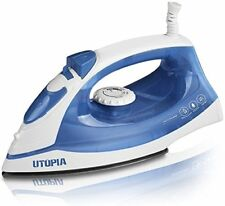 Steam Iron With Nonstick Sole plate Portable Light Weight 1200w By Utopia Home