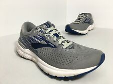Brooks Adrenaline GTS 19 Men's Size 9 Running Shoes Gray Blue White
