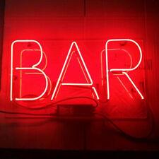 "New Bar Neon Light Sign Lamp Beer Pub Acrylic 14"" Wall Decor Handmade"