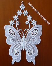 PLAUENER SPITZE ® Fensterbild SOMMER Fensterdekoration SCHMETTERLING Frühling