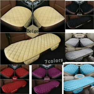 Universal Car Front Rear Seat Cover Cushion Protector Plush Mat Auto Chair Pad//