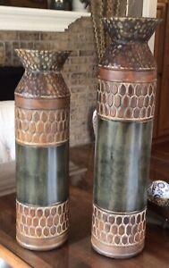 2 Tin Urns