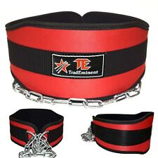 TradEminent Neoprene Dipping Belt/ Weight Lifting/Gym Dip Belt With Metal Chain
