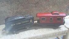 MARX O Scale RAILROAD TRAIN Toy Locomotive Engine 999 & NYC Coal Tender 7 PC Lot