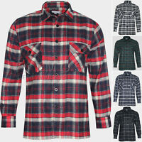 Mens Flannel Lumberjack Check Shirt Brushed Cotton Tartan Vintage Shirts
