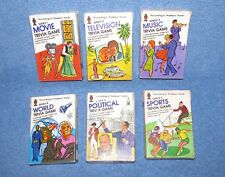 Lot Of 6 Vintage 1984 Hoyle Products Pocket Trivia Cards   FREE SHIPPING