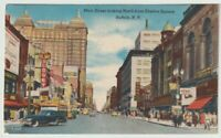 Unused Postcard Main Street looking North from Shelton Square Buffalo New York