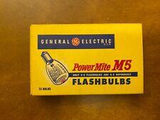 One Pack of 12 GE Powermite M5 Flashbulbs