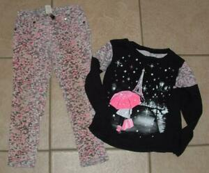 CLEARANCE Girls Small / 5 School or Play Pull On Pants & Shirt 2Pc Set JUSTICE