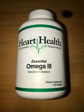 Heart Health Omega 3 Fish Oil With Vitamin E 120 Softgels Unopen Factory Sealed