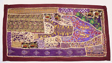 Indian Beaded Embroidery Wall Hanging Tapestry Ethnic Decorative Vintage. i17-54
