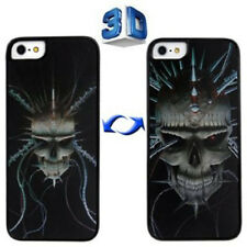 HardCase 3D Effekt für Apple  iPhone 5 5S SE  Skeleton in schwarz Case Cover Hül
