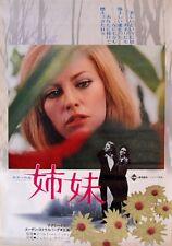 MY SISTER MY LOVE  Le sorelle Japanese B2 movie poster NATHALIE DELON LESBIAN 69