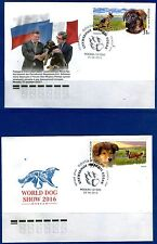 2016. Russia. DOGS.The German Shepherd and the Scottish Shepherd (collie). FDC