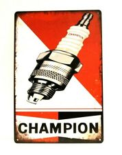 New Champion Spark Plugs Tin Sign Art Vintage Style Man Cave Garage Auto Parts