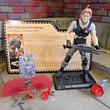 GI JOE ~ 2013 PSYCHE OUT ~ NIGHT FORCE ~comp & card ~ NOCTURNAL FIRE ~ joecon