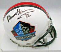 FRANCO HARRIS / NFL HALL OF FAME / AUTOGRAPHED HALL OF FAME MINI HELMET / COA
