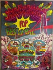 San FranciSco InternationaL Pop FestiVaL Deep PurpLe Iron BuTterfLy 1968 PoSter