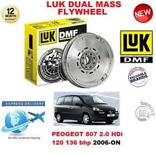 FOR PEUGEOT 807 2.0 HDi 120 136 BHP 2006-ON ORIGINAL LUK DMF DUAL MASS FLYWHEEL