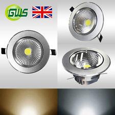 COB LED Recessed Light Ceiling Down Light Spot Light High Gloss Silver Surface