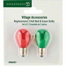 Dept56 Replacement 3V Red & Green Bulbs