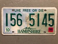 NEW HAMPSHIRE LICENSE PLATE OLD MAN OF THE MOUNTAIN 🏔 RANDOM LETTERS/NUMBERS