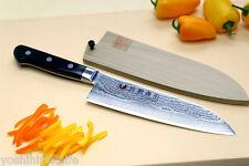 "VG10 33 Layers Damascus Stainless Steel Santoku 7""Japanese Chef Knife YOSHIHIRO"