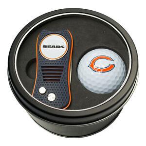 NFL Chicago Bears Golf Ball + Switchblade Divot Tool Tin Gift Set