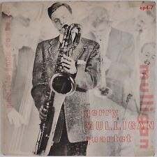 GERRY MULLIGAN QUARTET: '53 Jazz EP GF Orig 45 w/ Chet Baker VG++ Wax Pacific