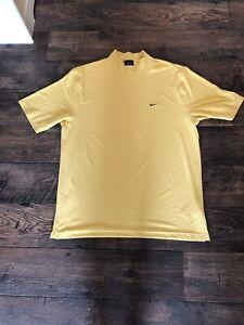 Mens Yellow Nike Dri Fit Base Layer Golf XL