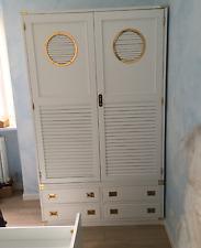 Armadio stile marina in mogano New Port Bianco artigianale nuovo made in Italy