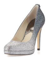 NIB-Michael Kors Size 10M Georgia Pump Silver Glitter Heels -RETAIL$129 Stunning