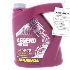 4 Liter MANNOL Legend Ester 0W-40 API SM CF Motoröl 0W40 4036021404400