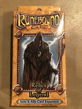 Fantasy Flight Runebound Item & Ally Card Expansion Relics of Legend 2nd Edition