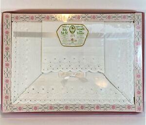 Vintage Lady Christina Baby Crib Set Permanent Press Bedsheet Pillow Case NOS