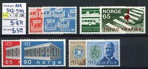 NORWAY AFA 592-599. 1969. Mint never hinged (MNH).