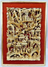 Antique Chinese gold gilt lacquered wood Guangdong Buddhist temple alter carving