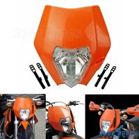 Orange Dirt Bike Headlight Head Lamp Fairing For KTM XR WR CR RMZ DRZ KLX 250