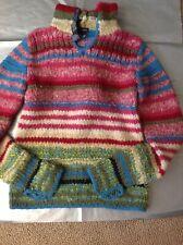 Sz Small Juniors KENZIE Knit sweater red stripe hood Beautiful