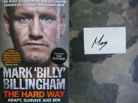 Signed Book The Hard Way by Mark Billy Billingham 1st Edition Hdbk 2019 SAS