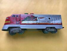 Vintage Japan T.N. Nomura HO sclae Santa Fe Tin Locomotive Train Engine