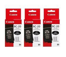 3x Canon BC-20 Bk BJC-2000 2100 4000 4100 4200 4300 5000 S100 o V Emb.orig
