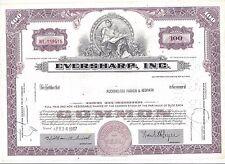Eversharp Inc.1965 Common Stock Certificate